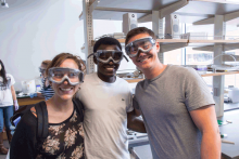 Summer research students in the CSMC